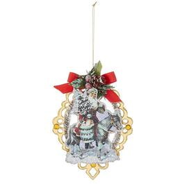 Paper Scroll Santa Ornament, Assorted Models thumb