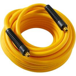 "3/8"" x 50' x 1/4"" National Pipe Thread Technopolymer Yellow Air Hose thumb"