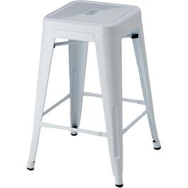 "24"" White Metal Bar Stool thumb"