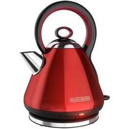 1.7 Litre 1500 Watt Cordless Polished Red Dome Kettle thumb