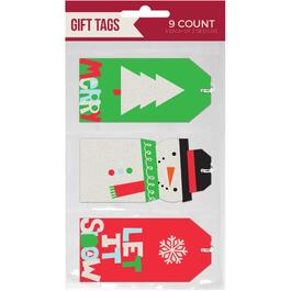 9 Pack Christmas Hang Tags, Assorted Designs thumb