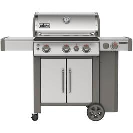 Genesis II S-335 3 Burner + Side Burner 669 sq. in. 39,000BTU Stainless Steel Propane Barbecue thumb