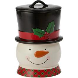 3 Piece Ceramic Snowman Storage Jar thumb