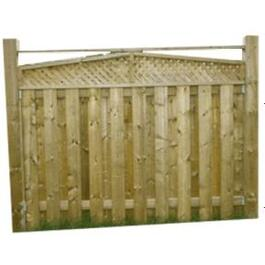 5' Cedar Angled Top Lattice Fence Package thumb