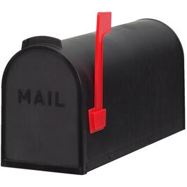Black Plastic Rural Mailbox thumb