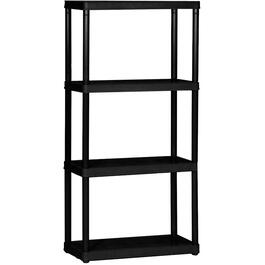 "24"" x 12"" x 48"" 4 Shelf Light Duty Black Poly Shelving Unit thumb"