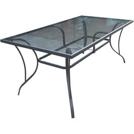 "64"" x 38"" Grande Rectangular Glass Dining Table thumb"