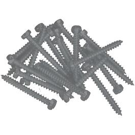 "100 Pack 6"" x 5/8"" Charcoal Pan Head Screws, for Aluminum Soffit and Fascia thumb"