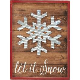 "11"" x 15"" Battery Operated Lighted Snowflake Wall Plaque thumb"