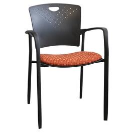 Navy Polypropylene Stacking Chair, with Arms thumb