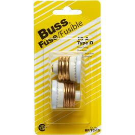 2 Pack 15 Amp Time Delay Fuses thumb