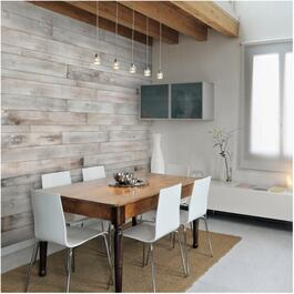 White-ish Pine Wood Wall Paneling, covers 20 sq. ft. thumb