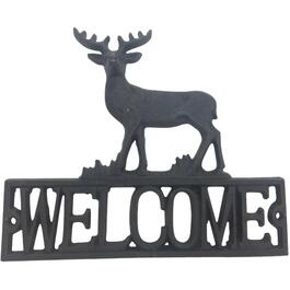 Cast Iron Deer Welcome Sign thumb