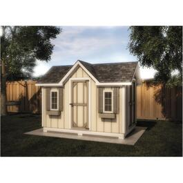 12' X 8' Double Entry Gable Shed Package, with Vinyl Siding thumb
