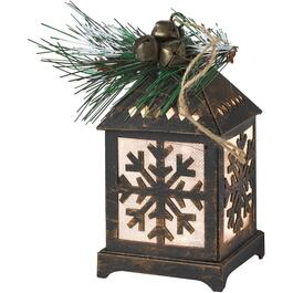 "4.5"" Battery Operated Warm White LED Lantern Ornament, Assorted Styles thumb"