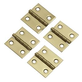 "2 Pack 1"" x 1"" Solid Brass Butt Hinges thumb"