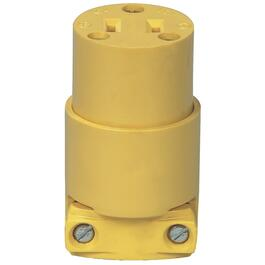 2 Wire 15 Amp 125V Yellow Electrical Connector thumb