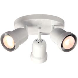 3 Light White Otis Flush Light Fixture thumb