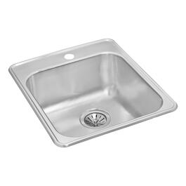 "20 1/2"" x 20 7/8"" x 7"" Stainless Steel Single Drop In Kitchen Sink thumb"