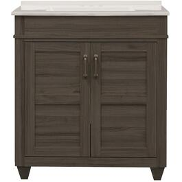 "25"" x 19"" Cohen Grey 2 Door Vanity, with Top thumb"