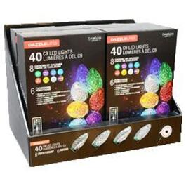 40 LED Colour Changing C9 Synchronize Multi-Function Light Set, with Remote thumb