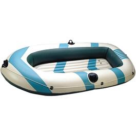 2 Person Vinyl Inflatable Boat Kit, with Oars thumb