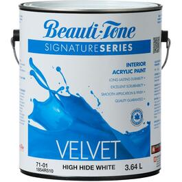 3.64L High Hide White Velvet Finish Interior Latex Paint thumb