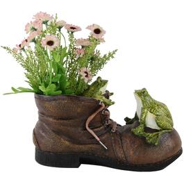 Polyresin Boot Planter with Frog, Assorted Styles thumb