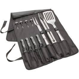 12 Piece Stainless Steel Barbecue Tool Set, with Storage thumb