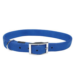 "10-12"" x 3/8"" Blue Adjustable Nylon Dog Collar, with Buckle thumb"