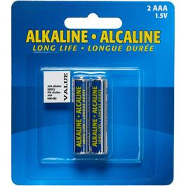 2 Pack AAA Alkaline Batteries thumb
