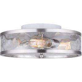 Cala 3 Light Brushed Nickel Flush Light Fixture with Watermark Glass thumb