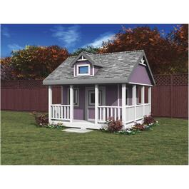 10' x 10' Storage Shed Playhouse Package, with Decorative Plywood thumb