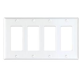 White 4 Device Switch Plate thumb