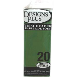"20 Pack 20"" x 20"" Green Tissue Paper thumb"