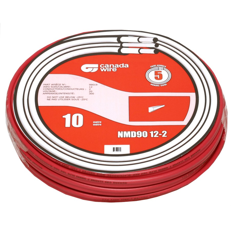 Canada Wire 75m Red 18 2 Lvt Fas Thermo Home Hardware House Wiring Gauge Standard 10m 12 Nmd 90 Copper