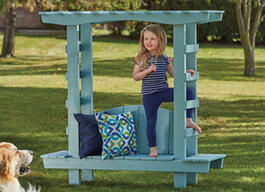 Child's Outdoor Bench With Arbour thumb