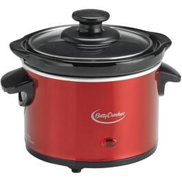 0.7 Quart Round Metallic Red Slow Cooker thumb