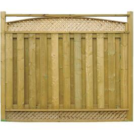 "6' 4"" Pressure Treated Arched Top Lattice Fence Package thumb"