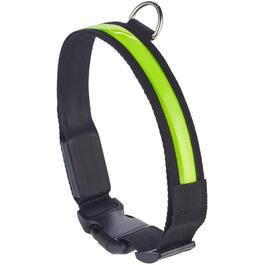 "18-25"" x 1"" Medium/Large Yellow LED Dog Collar thumb"