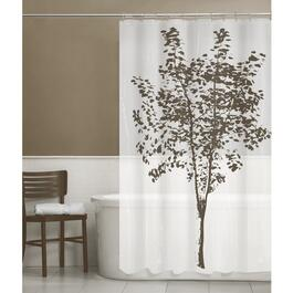 "70"" x 72"" White Arbor Peva Shower Curtain, with 12 Rings thumb"