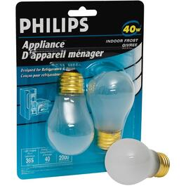 2 Pack 40W A15 Medium Base Frosted Appliance Light Bulbs thumb