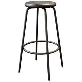 "31"" Heavy Duty Black Metal Work Stool, with Footring thumb"