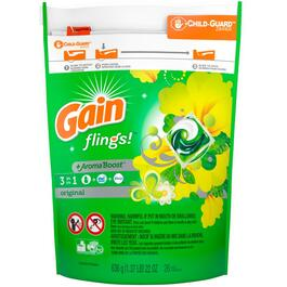 26 Pack Original Scented Flings Laundry Detergent thumb