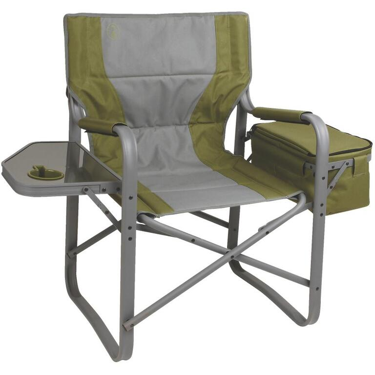 Coleman Aluminum Directors Camping Chair With Side Table And Cooler