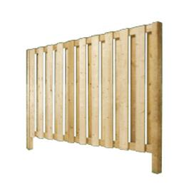 6' Spruce Sanded Four Sides Vertical Board On Board Fence Package thumb