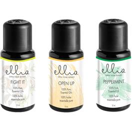 3 Pack 10ml Ellia Fight It/Open Up/Peppermint Essential Oil thumb