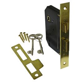 Satin Brass Mortise Door Lock thumb