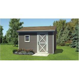 12' x 12' Side Entry Gable Shed Package, with Vinyl Siding thumb
