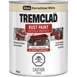 946mL Gloss Recreational Vehicle White Alkyd Rust Paint thumb
